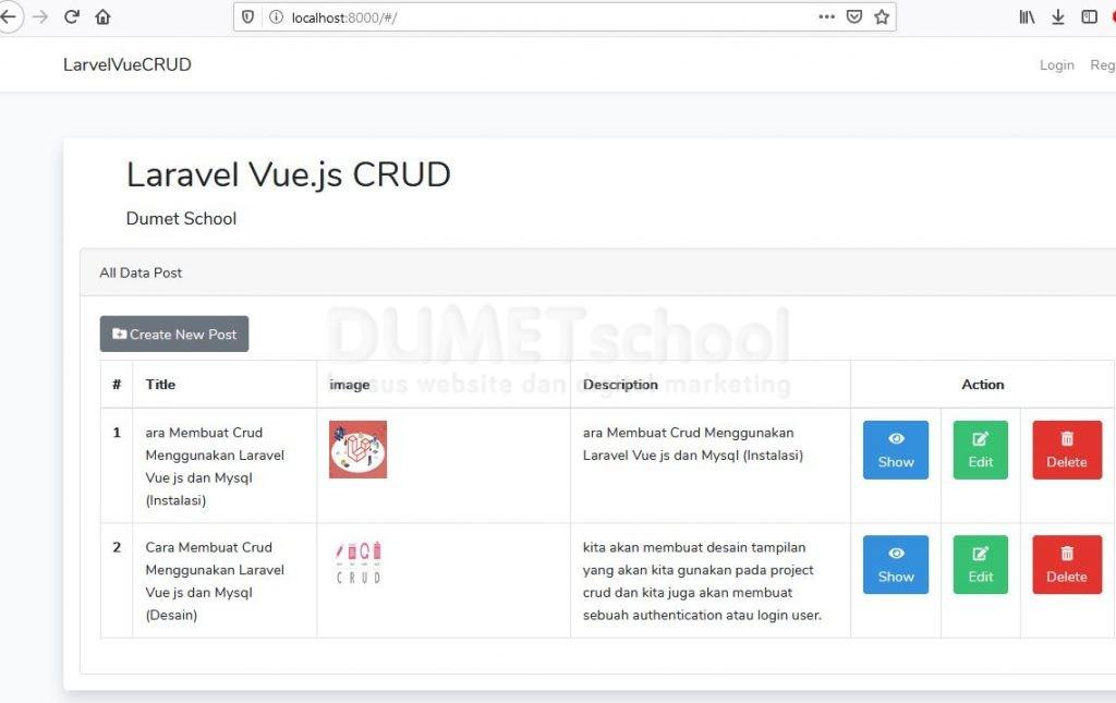 Cara Menampilkan Data Menggunakan Laravel dan Vue.js