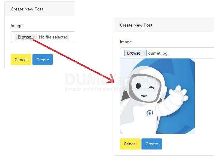 Cara Menampilkan Gambar Sebelum di Upload Menggunakan Laravel Vue.js