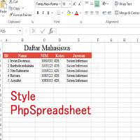 Cara Mudah Style PhpSpreadsheet