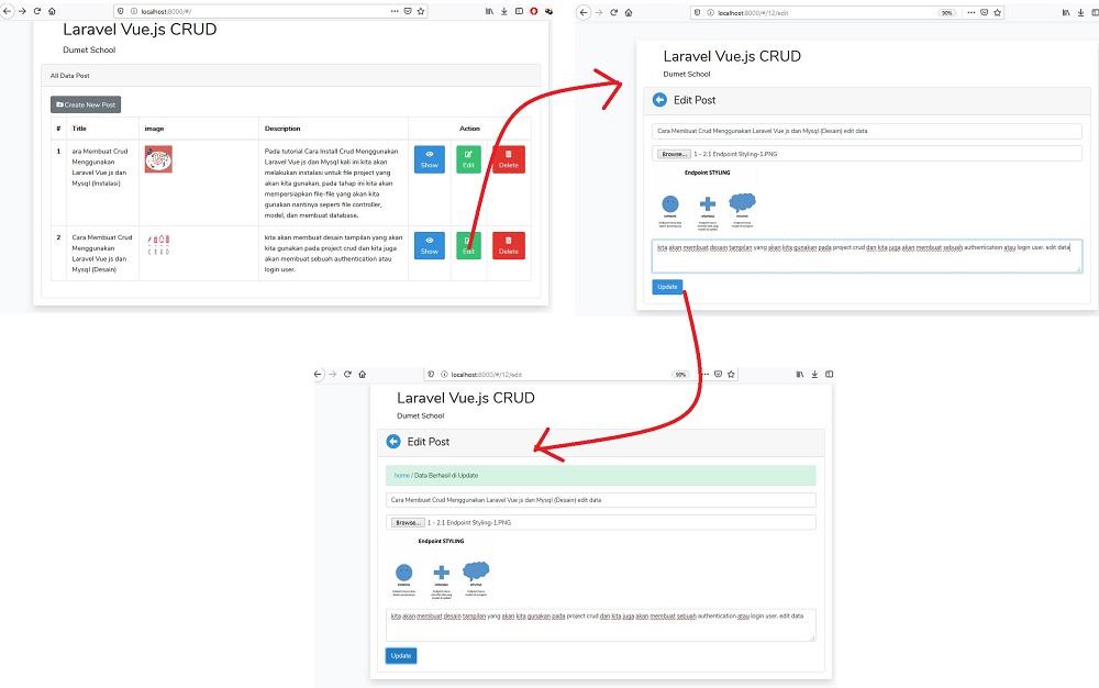 Cara Melakukan Edit Data Menggunakan Laravel Vue Part 2