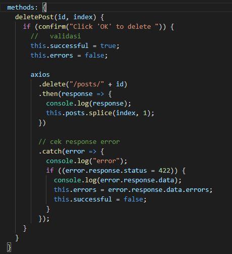 Cara Membuat Fitur Delete Data Menggunakan Laravel Vue